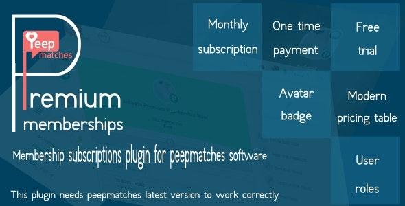 Premium memberships - for peepmatches - CodeCanyon Item for Sale