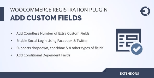 WooCommerce Registration Fields Plugin - Custom Signup Fields - CodeCanyon Item for Sale