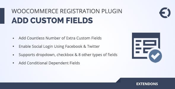WooCommerce Registration Fields Plugin - Custom Signup Fields