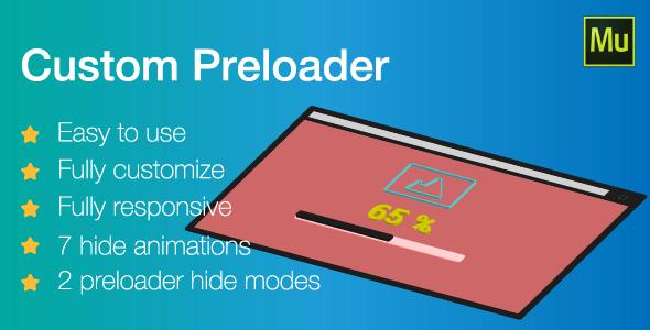 Responsive Custom Preloader   Adobe Muse widget - CodeCanyon Item for Sale