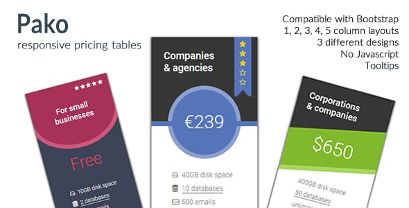 Pako 2 - Responsive Pricing Tables