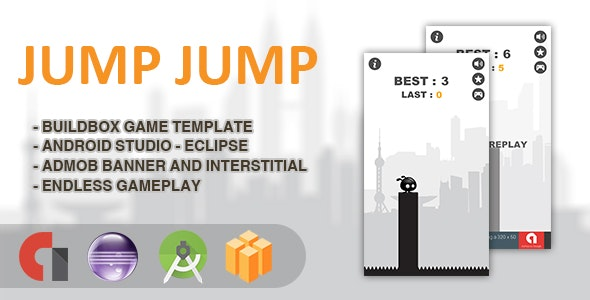 Jump Jump - Android Studio + Eclipse + Buildbox Template - CodeCanyon Item for Sale