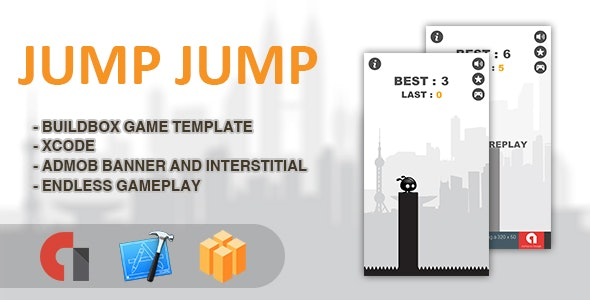 Jump Jump - IOS XCODE Source + Buildbox Template - CodeCanyon Item for Sale