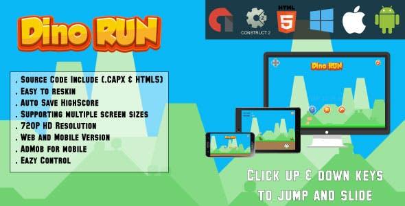 Dino Run Adventure - (capx & HTML5)