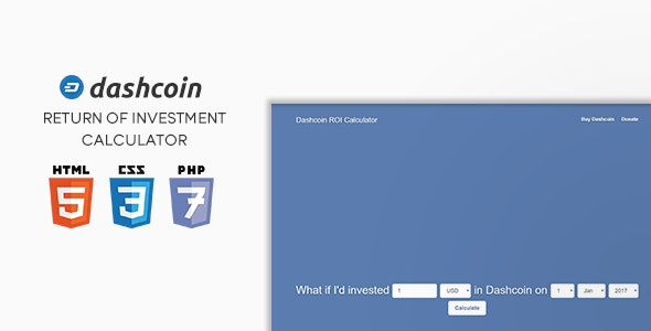 Dashcoin ROI Calculator - CodeCanyon Item for Sale