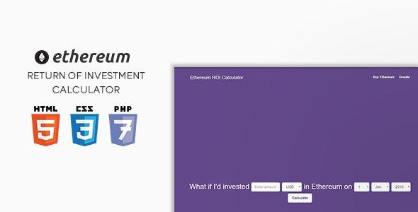 Ethereum ROI Calculator - CodeCanyon Item for Sale