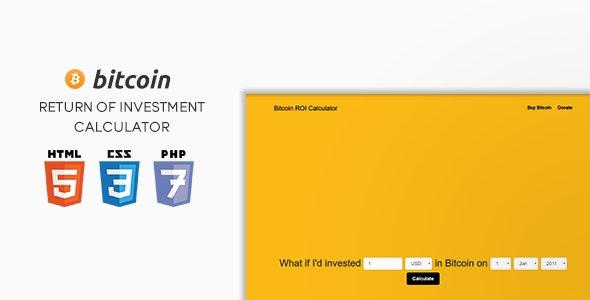 Bitcoin ROI Calculator - CodeCanyon Item for Sale