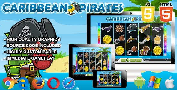 Caribbean Pirates - HTML5 Casino Game