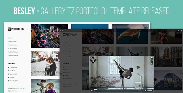 Besley - Gallery TZ Portfolio+ Template Released - CodeCanyon Item for Sale