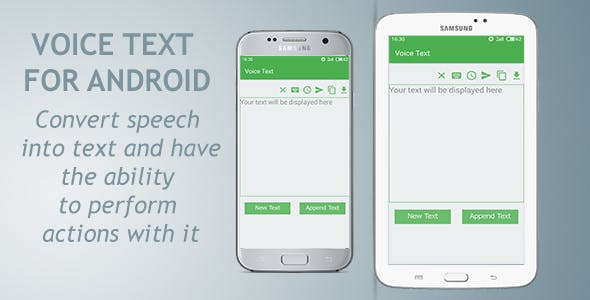 Make A Speech App With Mobile App Templates from CodeCanyon
