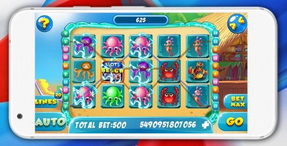 Slots Beach - html5 game, AdMob, slot machine 2018 - CodeCanyon Item for Sale