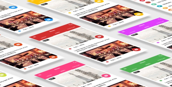 Multipurpose News App Template UI Ionic 3 - CodeCanyon Item for Sale