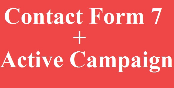 Contact Form 7 Active Campaign Integration - CodeCanyon Item for Sale