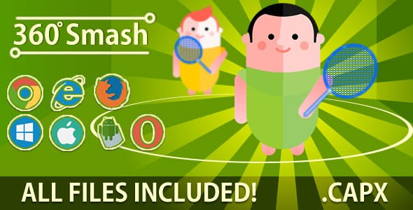 360 Smash (.CAPX & HTML) Game. ( PROMOTION! )
