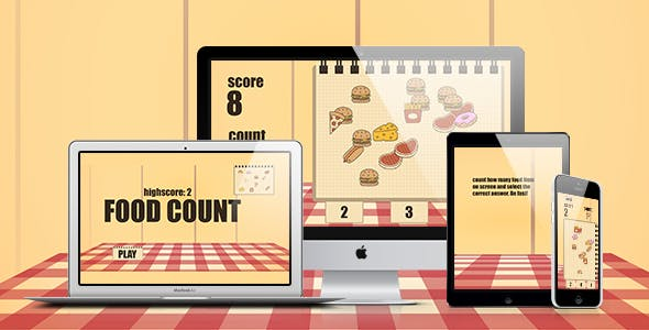 Math Game: Food Count