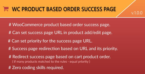 WooCommerce Product based Order Success Page