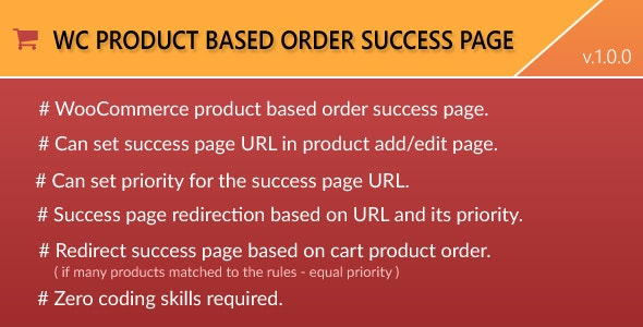 WooCommerce Product based Order Success Page by IvaneAppz