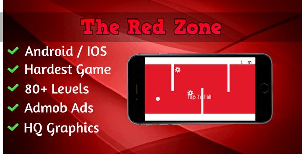The Red Zone | Android IOS Game | 80+ Levels | Admob