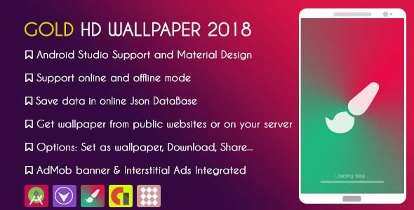 Gold HD WALLPAPER 2019 - With ADMOB & GDPR by KINGDOV | CodeCanyon