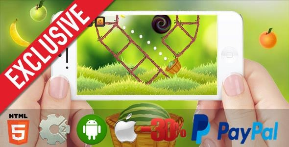 Mortar Watermelon - HTML5 Mobile Game (Capx) - CodeCanyon Item for Sale