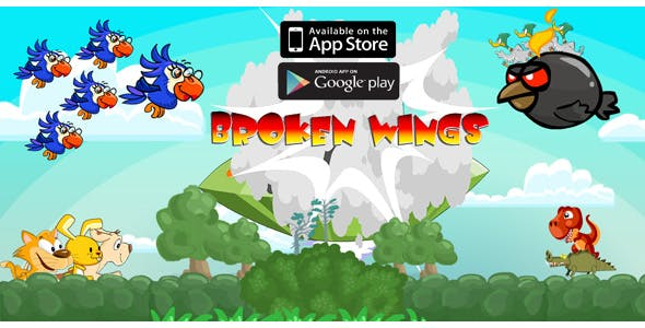 Broken Wings Adventure Game - Android , IOS Template Inside