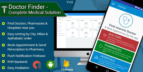 Doctor Finder - Complete Medical Solution Android Application - CodeCanyon Item for Sale