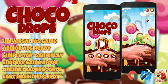 Choco Drops + Admob IOS (XCODE 7 & 8) - CodeCanyon Item for Sale