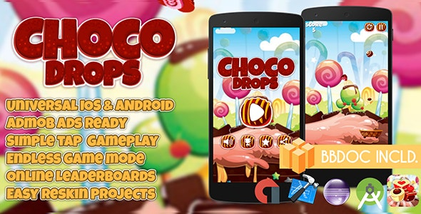 Choco Drops Buildbox (BBDOC + Android Studio + Eclipse + Xcode) - CodeCanyon Item for Sale