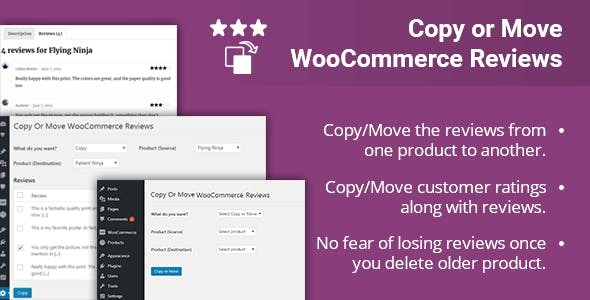 Copy or Move WooCommerce Reviews