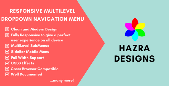 CSS3 Responsive MultiLevel DropDown Navigation Menu