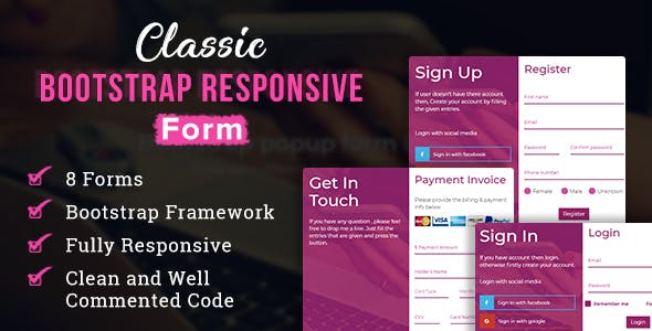 Classic - Bootstrap Responsive Form by makewebbetter