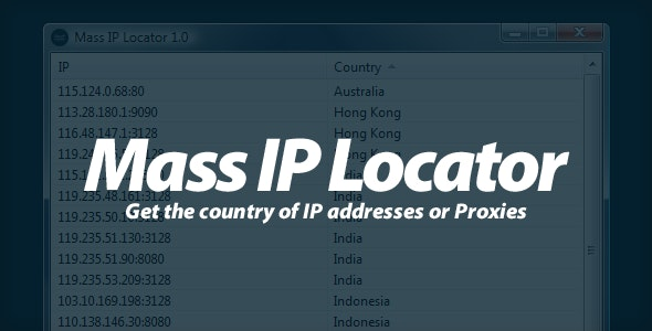 Mass IP Locator - Get the country of IPs ! - CodeCanyon Item for Sale