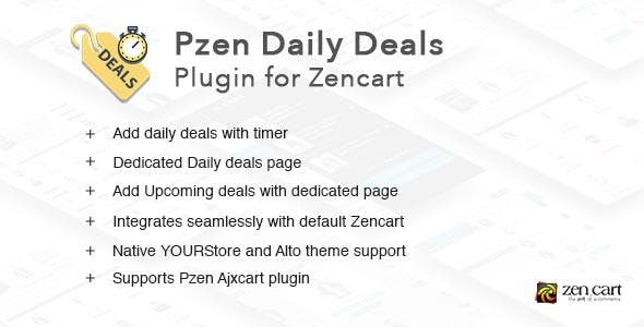 Pzen Daily Deals - Plugin for Zencart