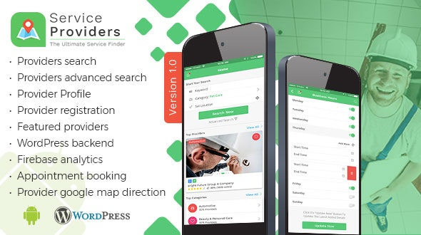 Listingo - Service Providers, Business Finder Android Native App - CodeCanyon Item for Sale