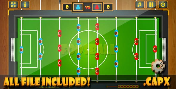 FoosBall - Game (CAPX & HTML) Game.