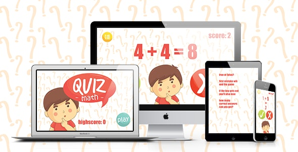 Math Game: Quiz Maths - CodeCanyon Item for Sale