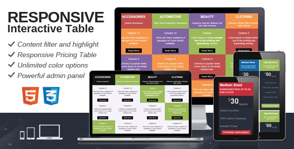 Responsive Interactive Table
