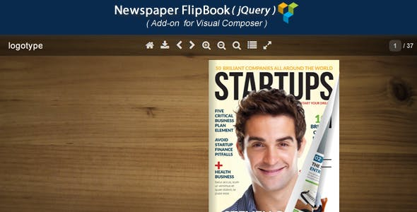 Visual Composer Add-on - Newspaper jQuery FlipBook