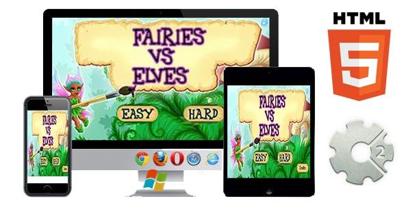 Fairies vs Elves - HTML5 game (CAPX)