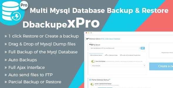 Professional Mysql Database Backup & Restore Script - Multi Database Backup - DbackupeX Pro