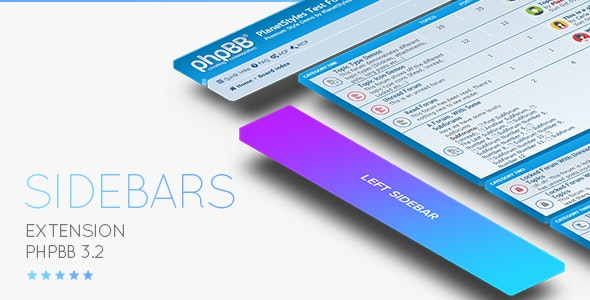 phpBB 3.2 / 3.3 Sidebar Extension - Responsive - CodeCanyon Item for Sale
