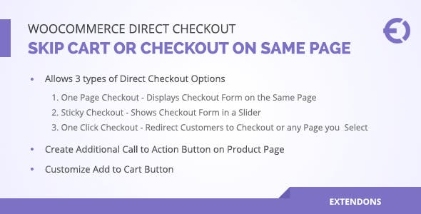 Woocommerce Direct Checkout, Skip Cart or Checkout on Same Page