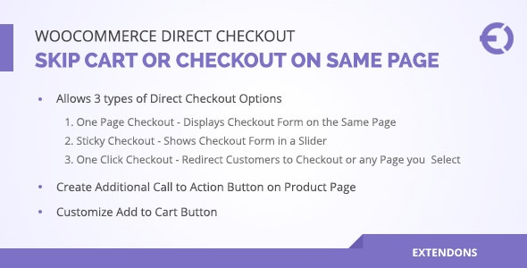 Woocommerce Direct Checkout, Skip Cart or Checkout on Same Page - CodeCanyon Item for Sale