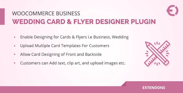 WooCommerce Business, Wedding Card & Flyer Designer Plugin