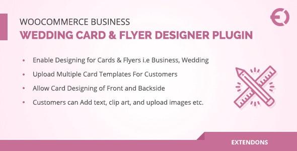 WooCommerce Business, Wedding Card & Flyer Designer Plugin - CodeCanyon Item for Sale