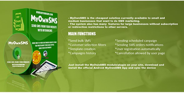 WP MyOwnSMS Notifications - CodeCanyon Item for Sale