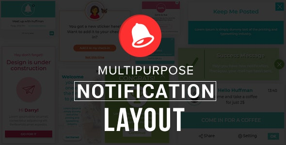 Multipurpose Notification Layout - CodeCanyon Item for Sale