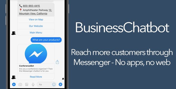 BusinessChatbot - Messenger bot for your Business + Backend