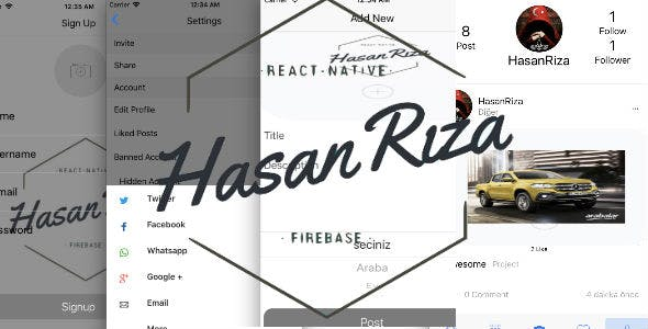 Social Full App Firebase - React Native