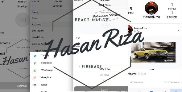 Social Full App Firebase - React Native - CodeCanyon Item for Sale